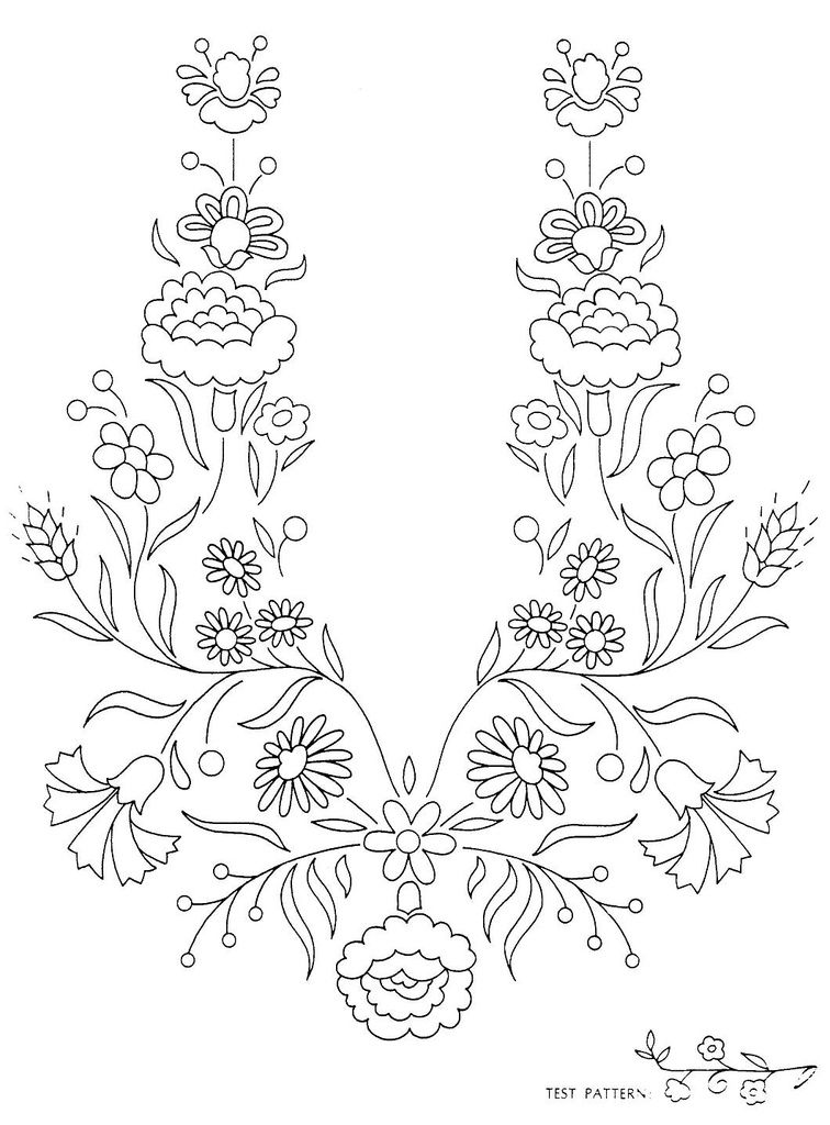 Peasant Folk Art Embroidery 7 | pattern7 | Pinterest | Bordado ...