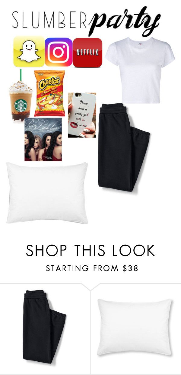 """""""my slumberparty"""" by itsmaria12 ❤ liked on Polyvore featuring Lands' End, L.L.Bean, RE/DONE and slumberparty"""