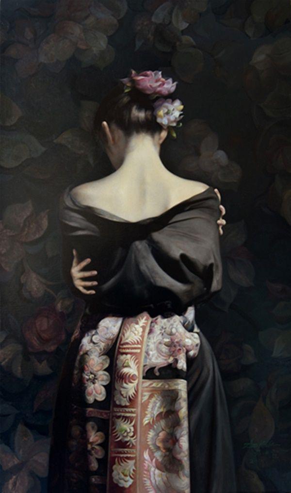 ~ Zhao Kailin ~ ++++++++++++AAAAAAA++++ https://es.pinterest.com/juljulj/geisha-kimono-art/