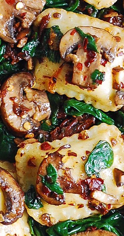 Mushroom and Spinach Ravioli