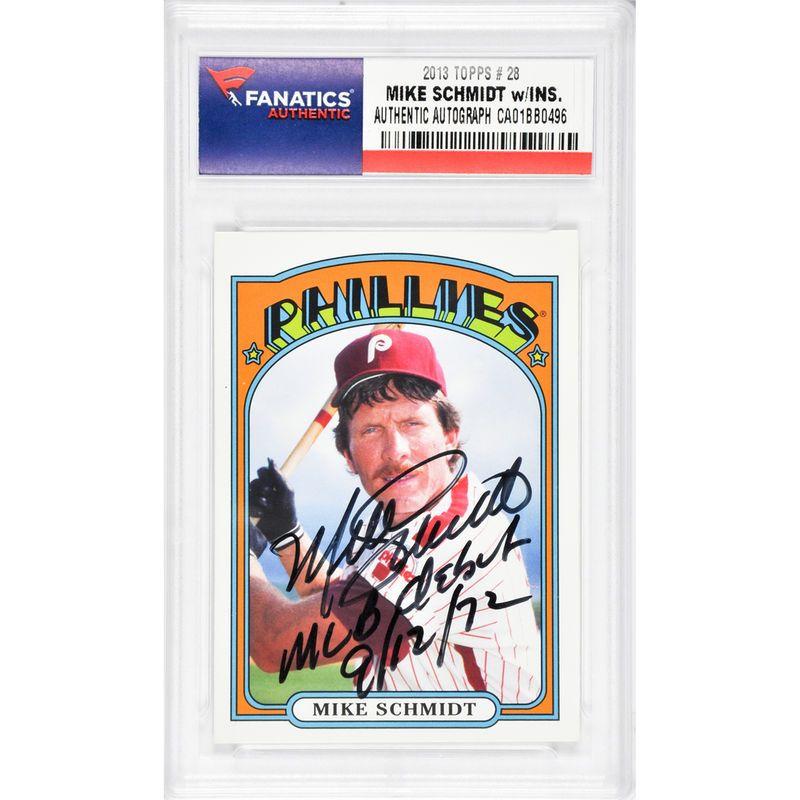 Mike Schmidt Philadelphia Phillies Fanatics Authentic