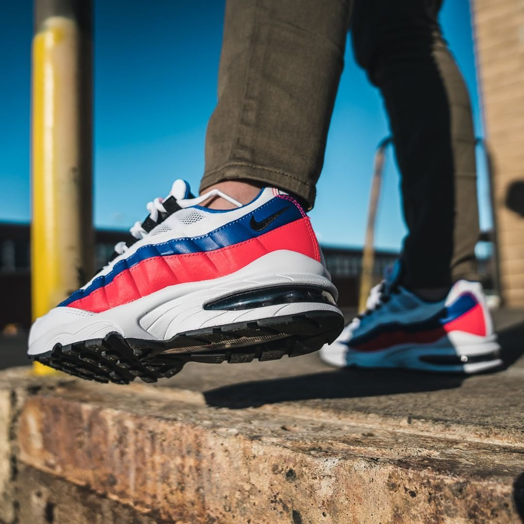 quality design 2096d 506d1 Nike Air Max 95 Essential White  Ultramarine Credit  KicksUSA
