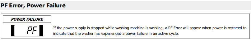 LG #Front #Load #Washer #PF #Error, #Power #Failure   Appliance