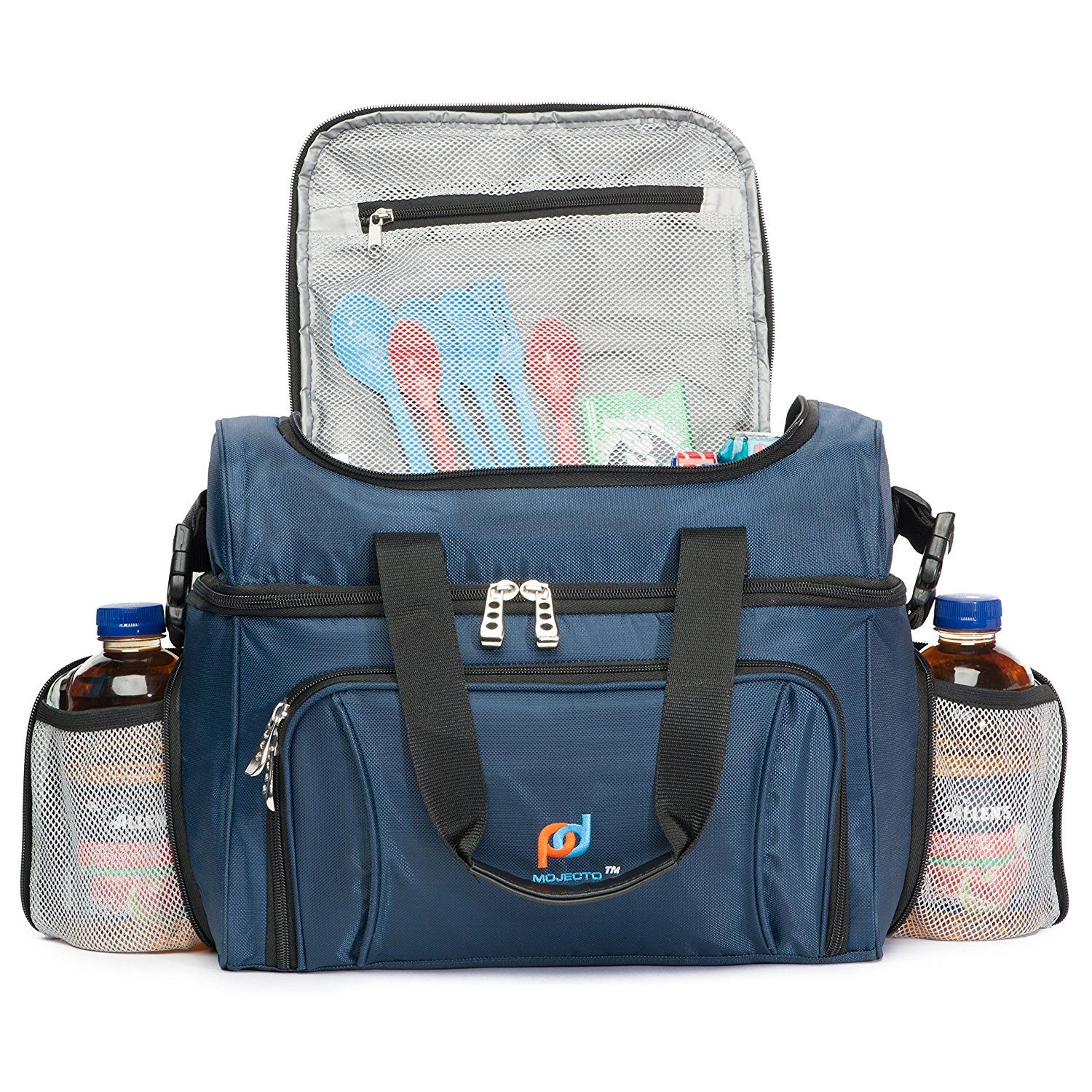 Cooler Bag Lunch Box Two Insulated Compartment Heavy Duty Fabric