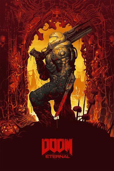 Doom Eternal Poster Game art, Doom 2016, Doom 4