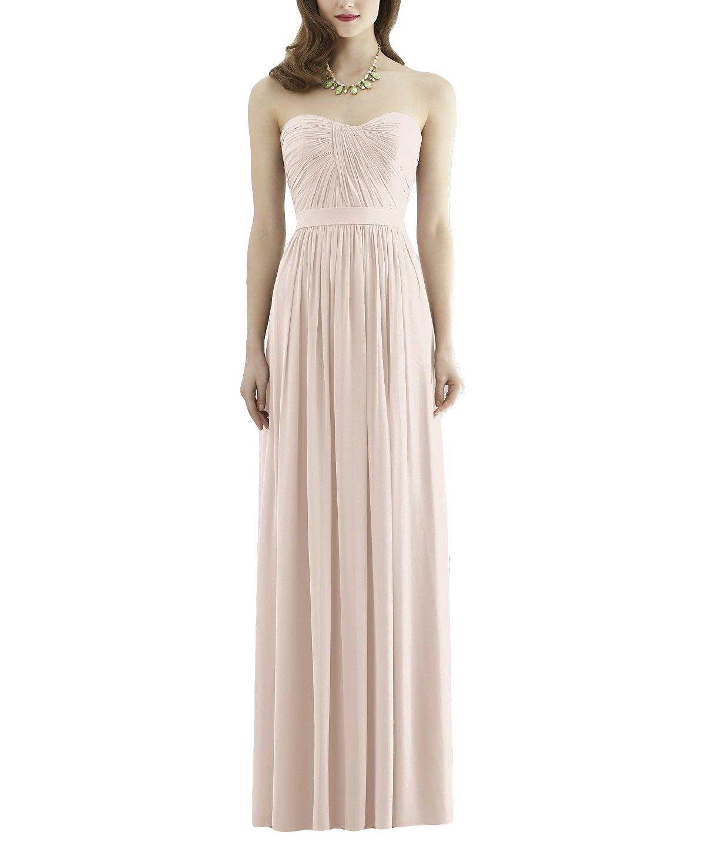 f104392dd9fd Description - Dessy Collection 2943 - Full length bridesmaid dress -  Sweetheart neckline - Matching matte satin 1.5