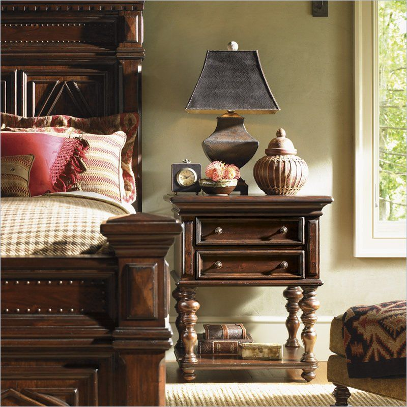 Fieldale Lodge Castle Pines Nightstand in Distressed Brown Mahogany - 01-0455-622 - Lowest price online on all Fieldale Lodge Castle Pines Nightstand in Distressed Brown Mahogany - 01-0455-622