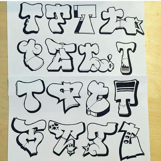 Graffiti Letter T | graff in 2019 | Graffiti lettering