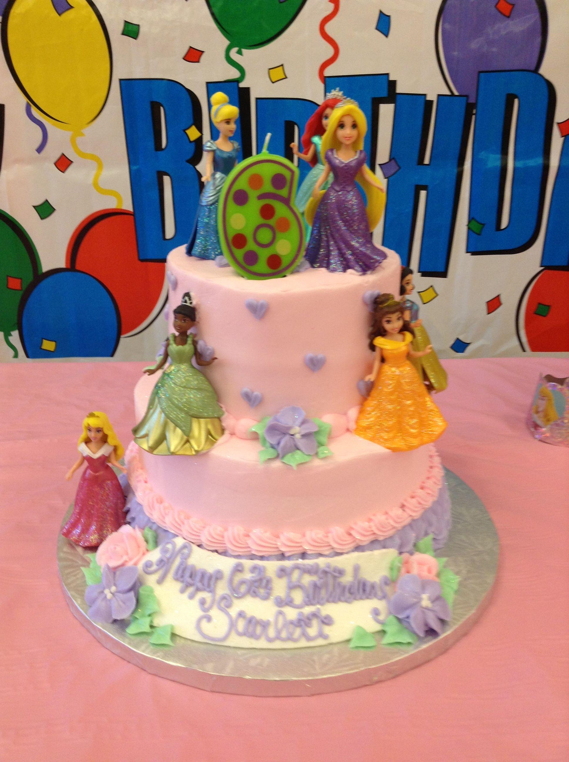 Disney Princess Birthday Cake Two Tier Made At Grandmas Bakery White Bear Lake