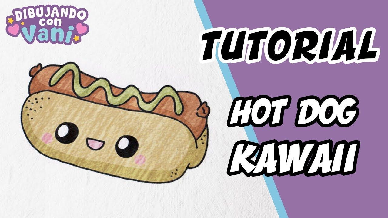 Como Dibujar Un Hot Dog Kawaii Dibujos Faciles Paso A Paso Draw