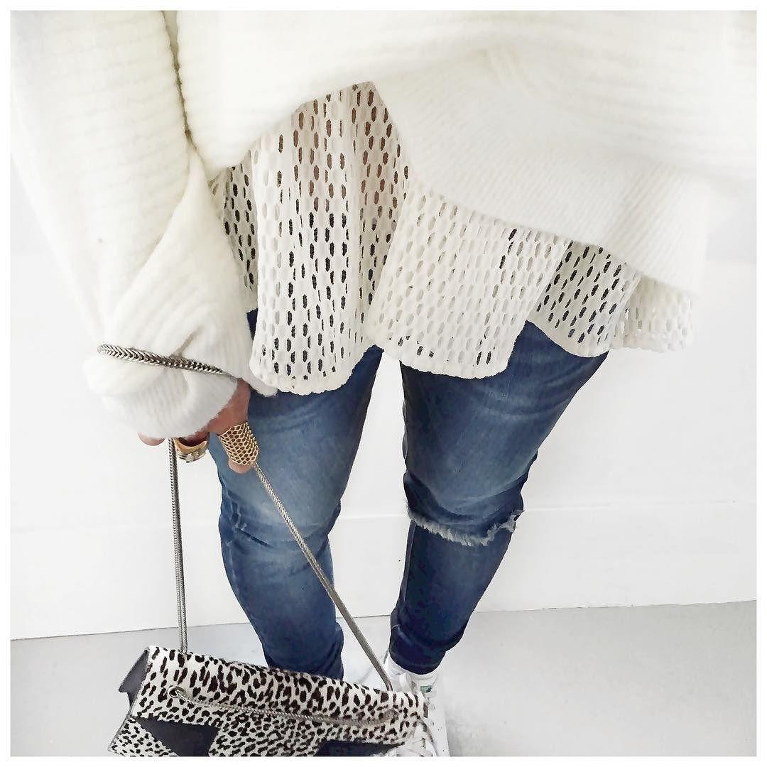 Jeudi = tenue doudou #iro #labrandboutique #mademoiselled #hironaeparis #saintlaurent by audreylombard