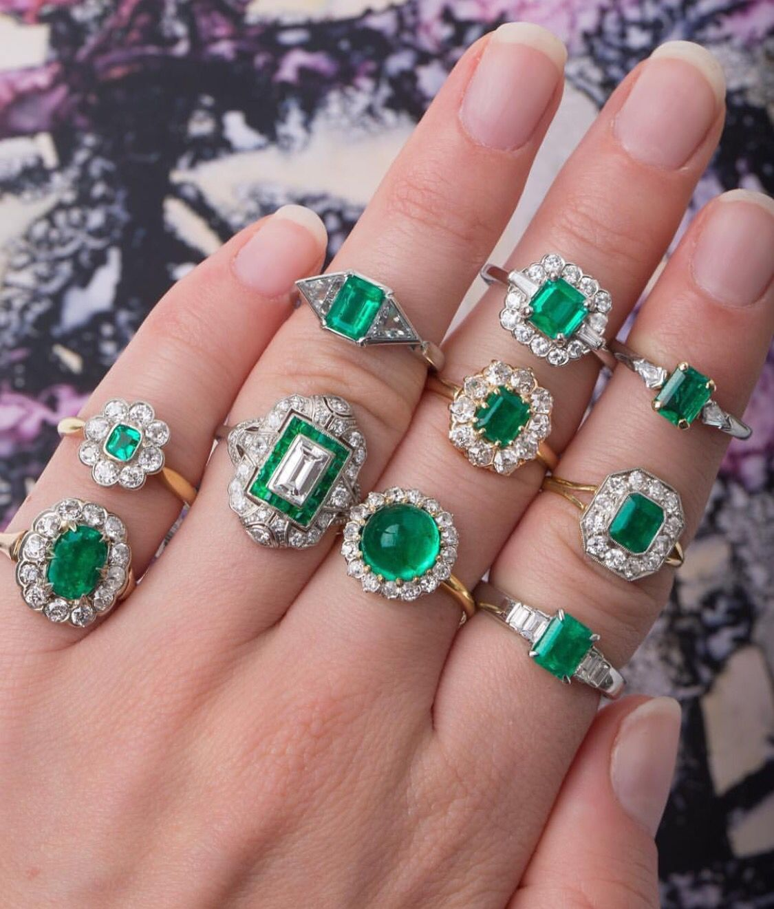 Greens, Emerald rings | Antique Jewelry | Pinterest | Ring, Green ...