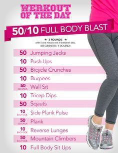 nice Werkout Of The Day: 50/10 Full Body Blast