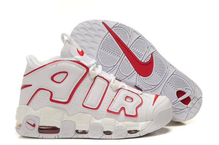 1d35c726639 Nike Air More Uptempo Scottie Pippen Shoes White/Red | Men's Style ...