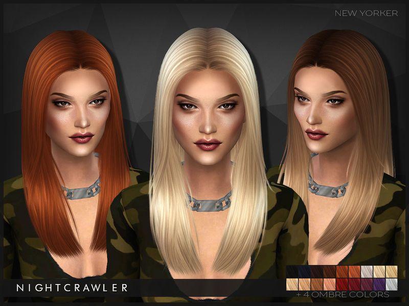 Nightcrawler Sims' NightcrawlerNewYorker Cheveux sims