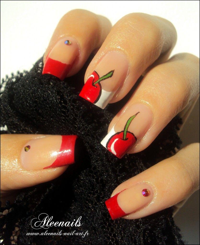 http://aleenails-nail-art.fr/cest-le-temps-des-cerises/ #nail #nails ...