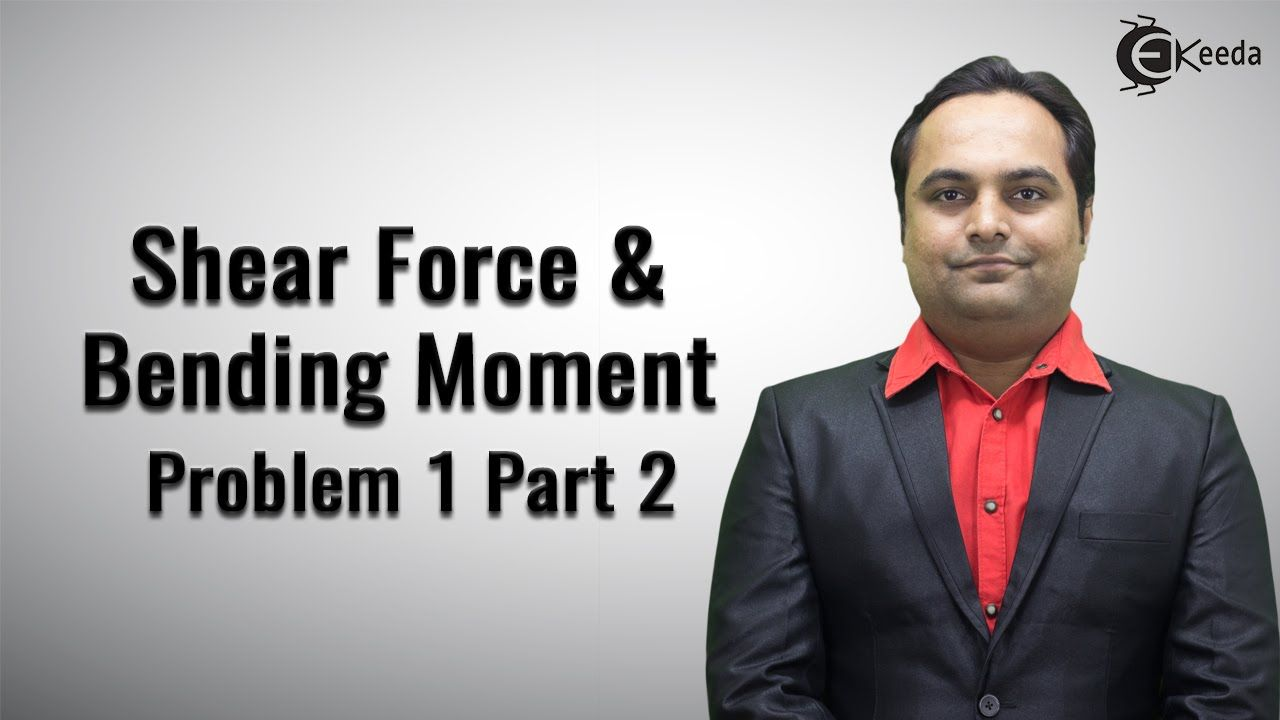 Shear Force and Bending Moment Video Tutorials Online | Problem No. 1 Pa...