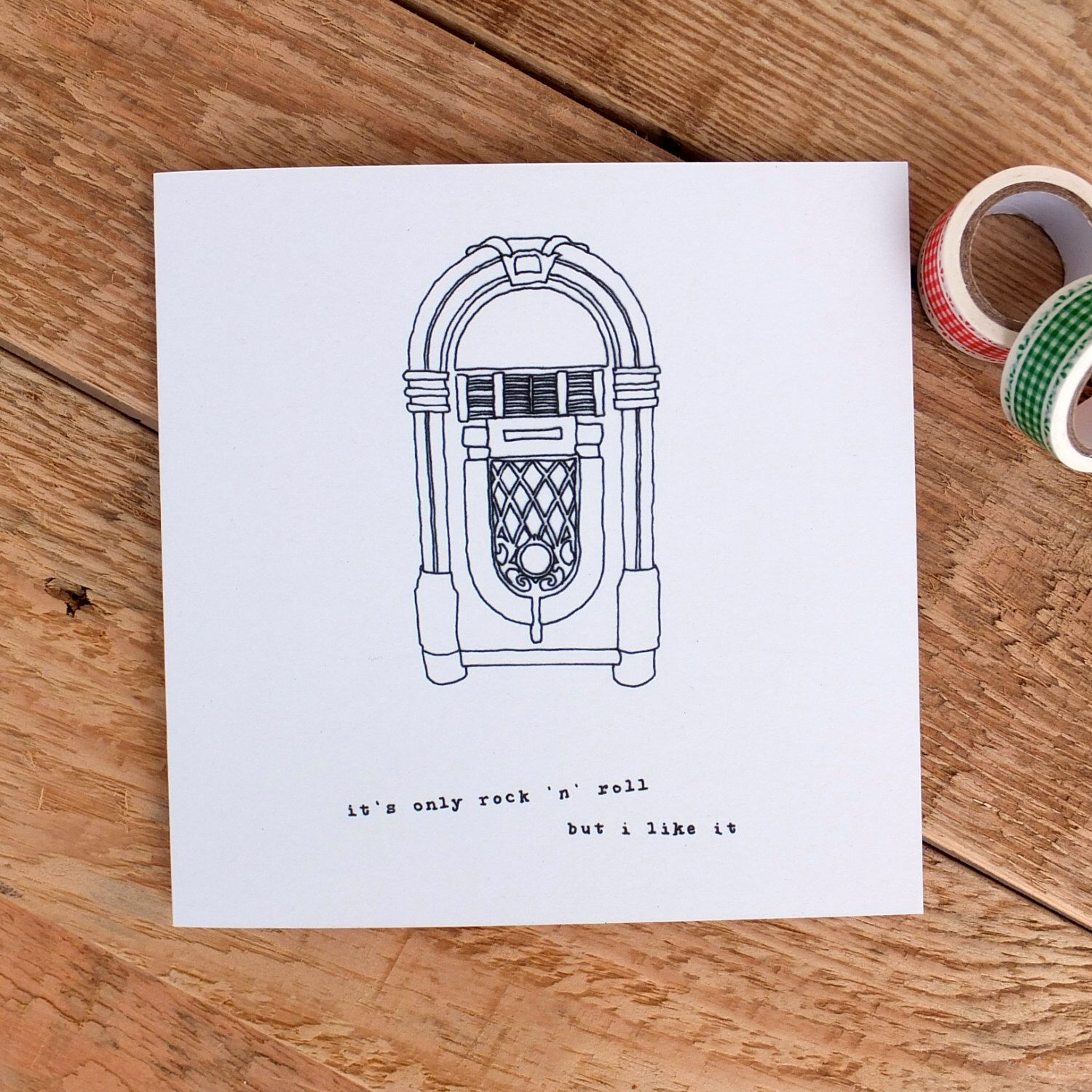 Birthday Card For Music Lovers Dad Rock N Roll
