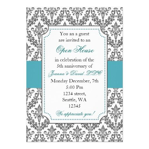 Elegant Blue Corporate party Invitation cerificate Pinterest