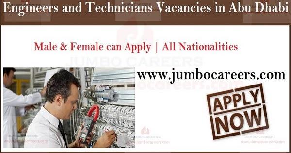 Engineers and Technicians Job Vacancies in Abu Dhabi