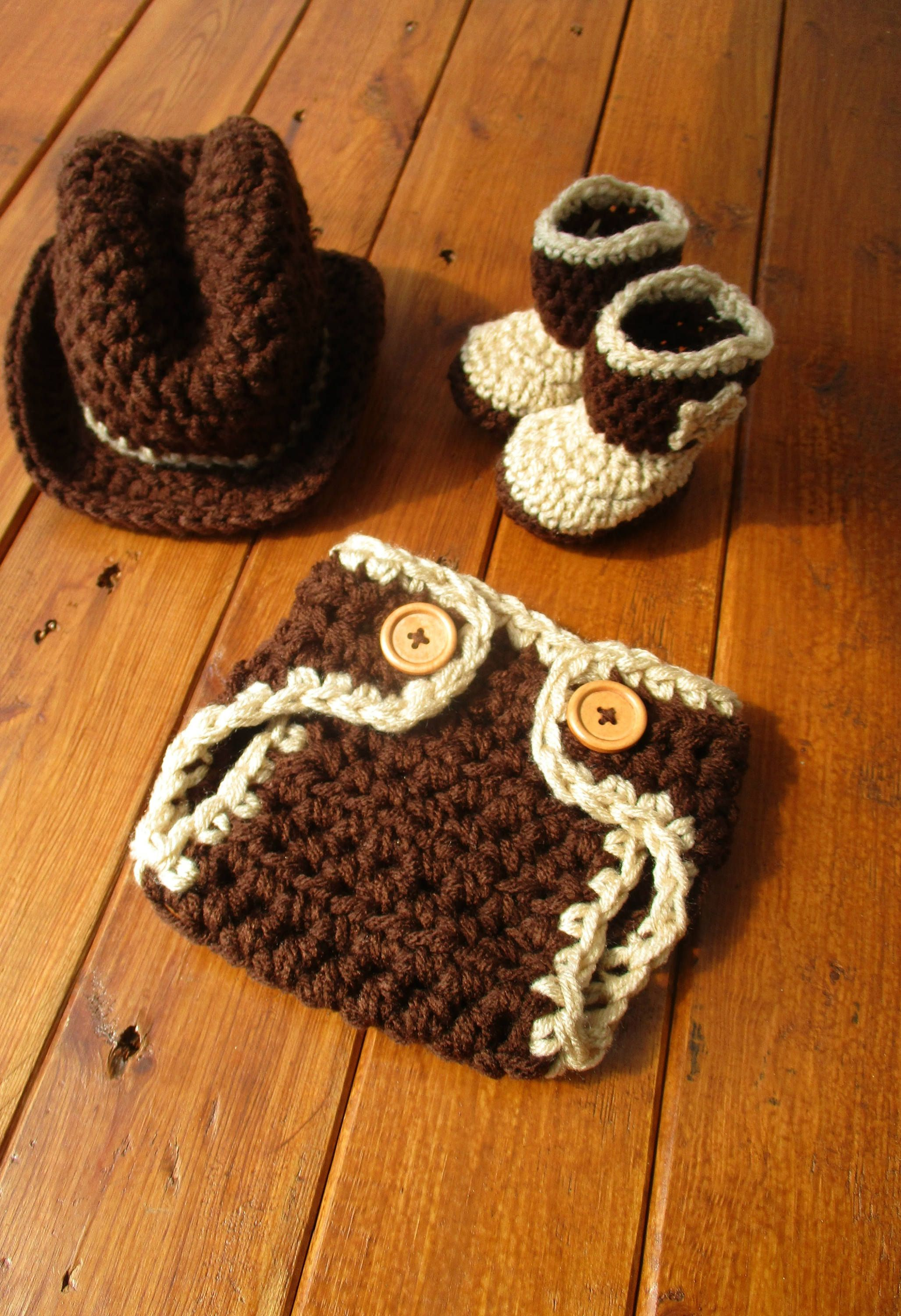 1c6c2e82 Baby Hat Patterns · Excited to share the latest addition to my #etsy shop:  Crochet Baby Cowboy Outfit