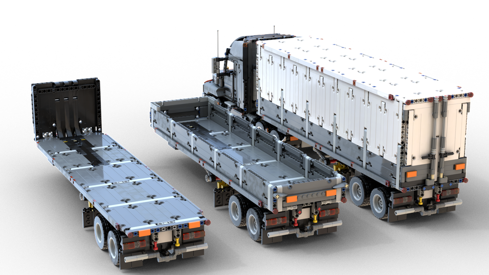 American Style Semitrailers Pack For 42078 Mack Anthem In 2020 Lego Technic Truck Lego Technic Sets Lego Truck