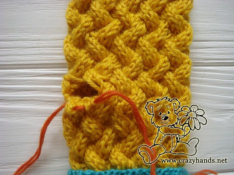 This Pattern Explains How To Knit Mittens For Beginners Blue And