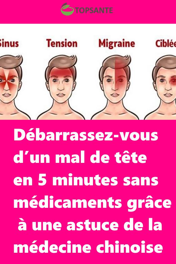 Debarrassez Vous D Un Mal De Tete En 5 Minutes Sans Medicaments Grace A Une Astuce De La Medecine Ch Qigong Accupuncture Health