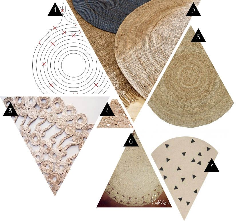 les tapis ronds en jute halat p tapis jute ve tapis rond. Black Bedroom Furniture Sets. Home Design Ideas