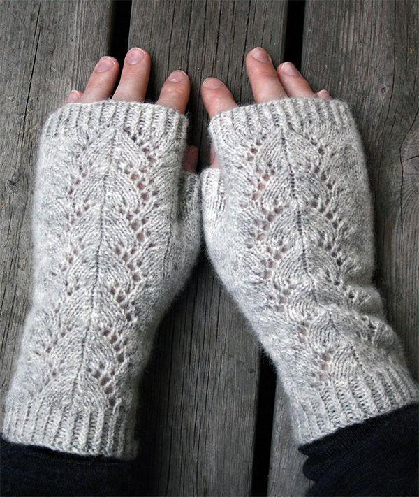 Photo of Fingerlose Handschuhe Strickmuster