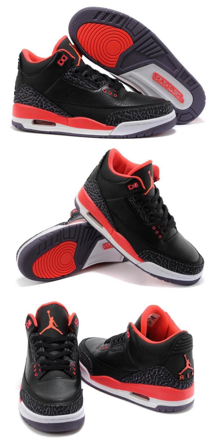 Air Jordan 3 Retro Black/bright Crimsoncanyon Purplepure