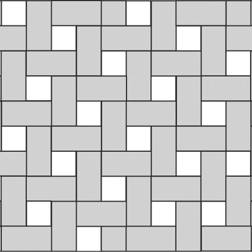 6x12 and 6x6 tile floor patterns