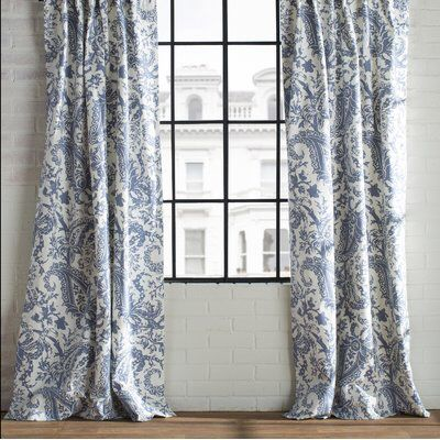 Locke Printed Cotton Curtain Panel | Pinterest | Cotton curtains ...