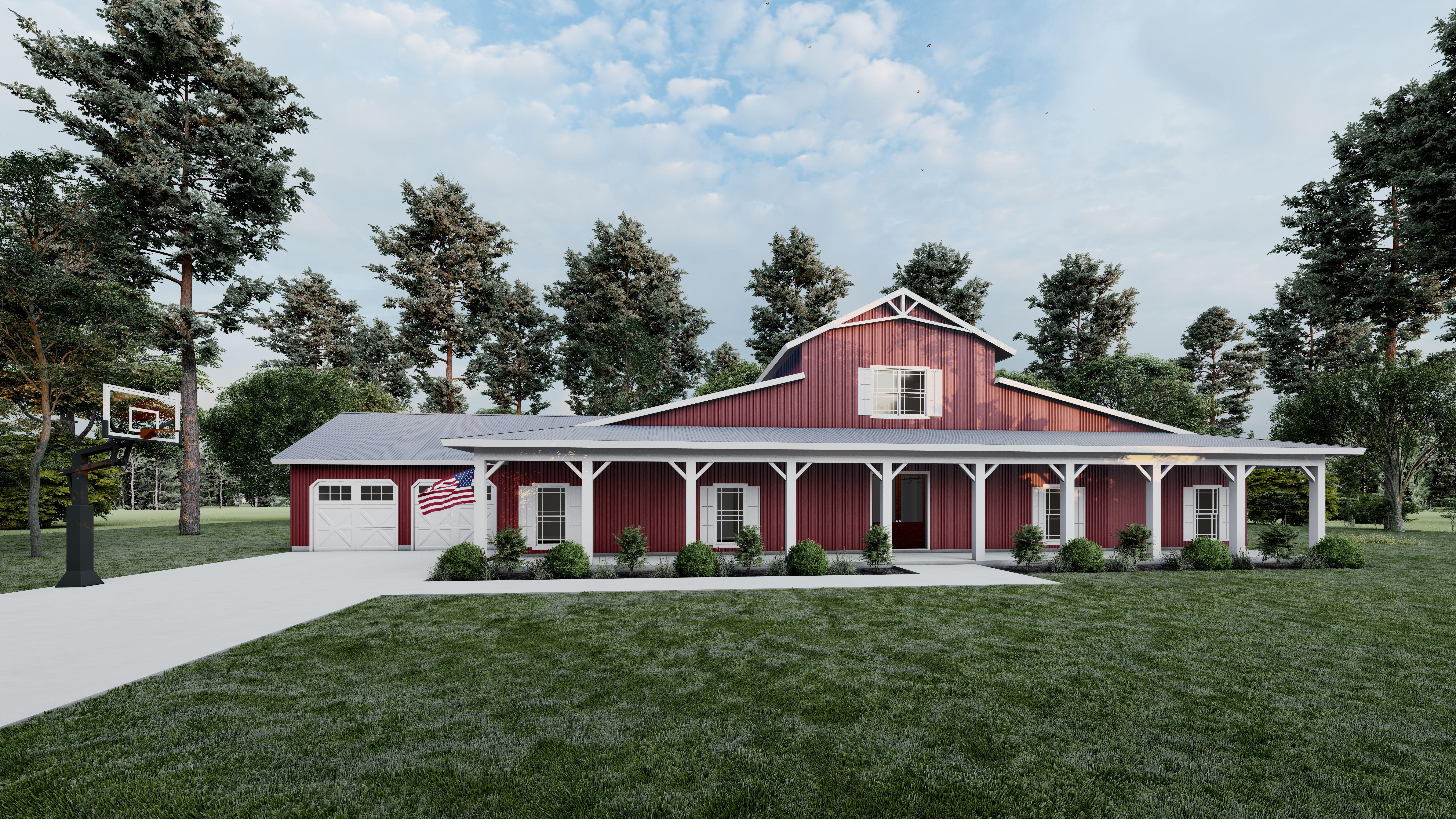House Plan 1020 Flat Acres Farmhouse House Plan