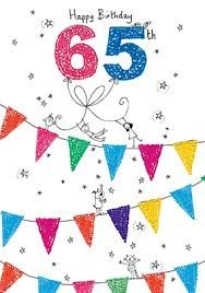 Image Result For Happy 65th Birthday Cards