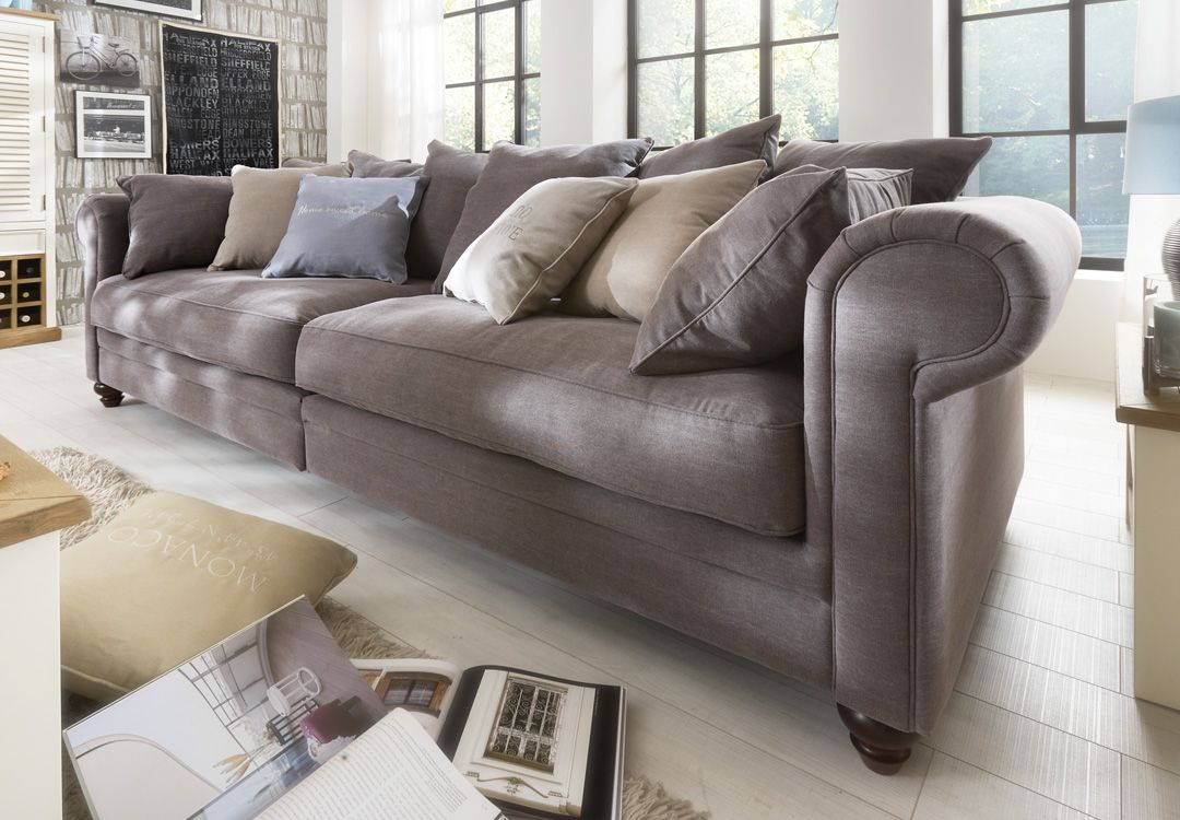 Couch Landhausstil Big Sofa Haiti Sofa 4 Sitzig Stoff Ranch 123 Espresso