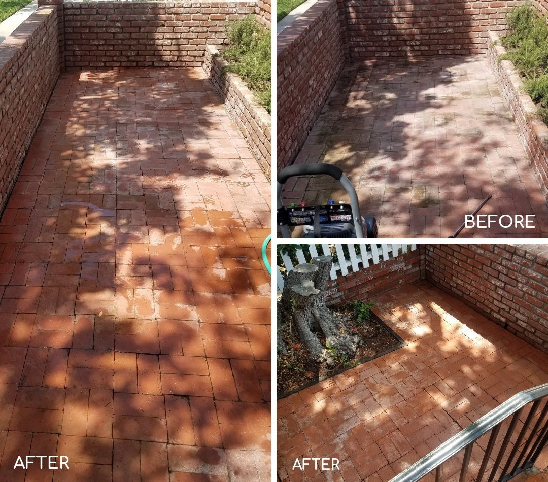 Before & After 🎭 Removing Buildup From This Brick Walkway