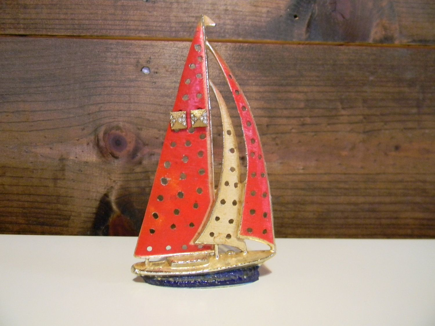 Vintage Sailing Ship Earring Holder By Fandjsurvives On Etsy
