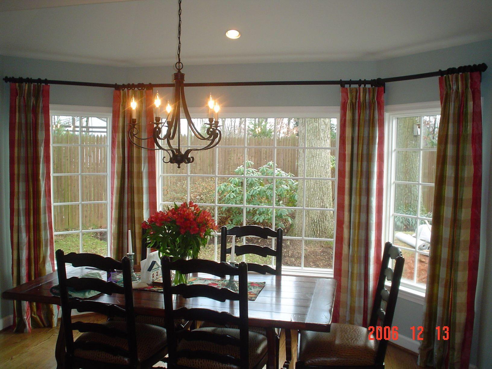 Bay Window Treatments Ideas Decoration Living Beautiful Wooden Frames