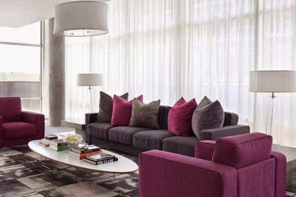 decoração cores violeta roxo e lilas -