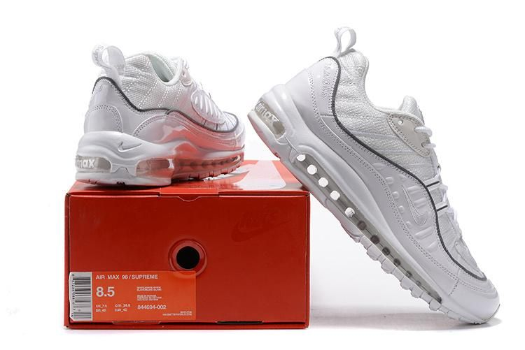 various colors 9657a 10381 Pruchease Scarpa New Supreme x Nike Air Max 98 All Bianco Running Uomo