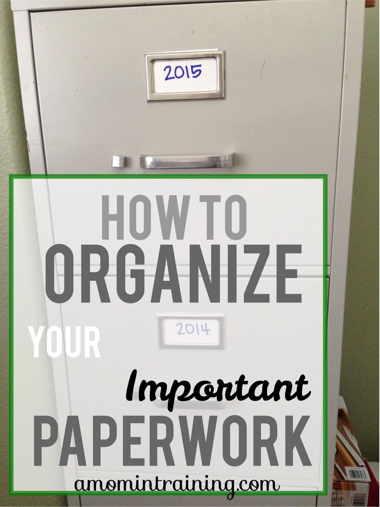 How to Organize Important Papers