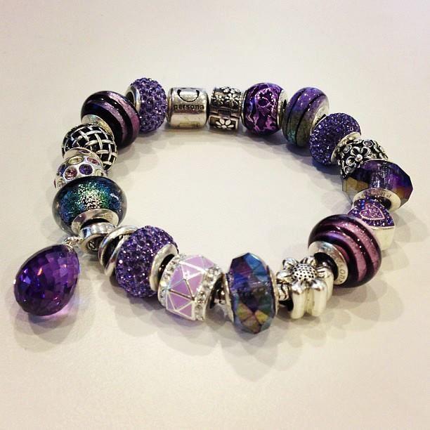 Persona Charm Bracelet: Purple Persona Bracelet Beads