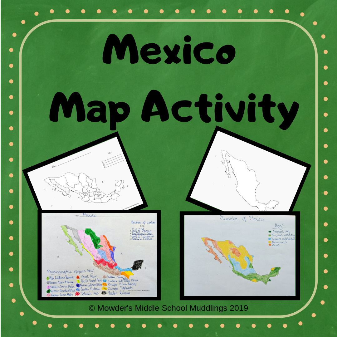 Mexico Geography Map Activity