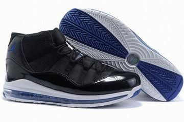 wholesale dealer 88174 e4a83 air jordan xi big size black blue sneakers mens