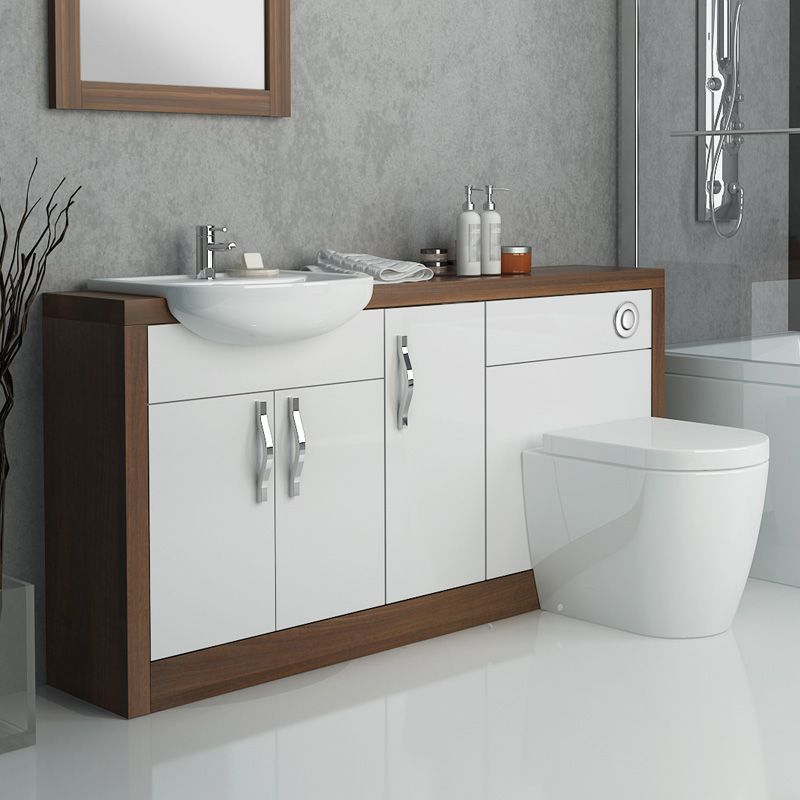 Lucido 1500 Fitted Bathroom Furniture Pack White