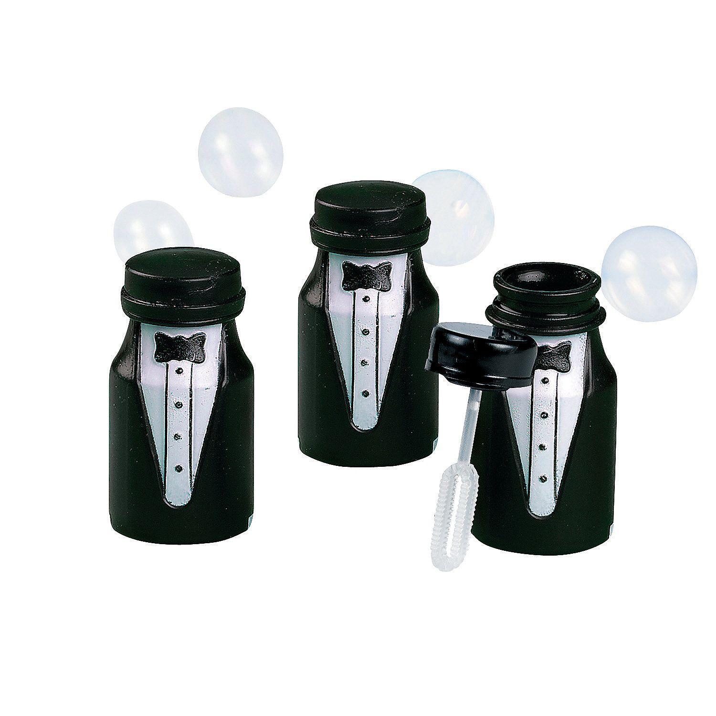 Tuxedo Bubble Bottles | Bottle, Wedding and Favours