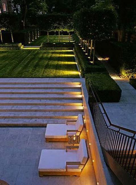 Outdoor Lights for Safe Yard Landscaping, Beautiful Outdoor Stairs
