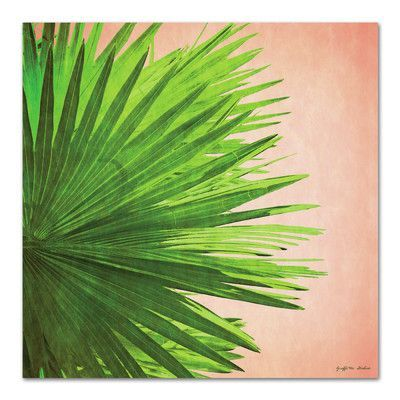 Americanflat 'Palm Frond On Pink' by Graffi tee Studios Graphic Art Size: 1