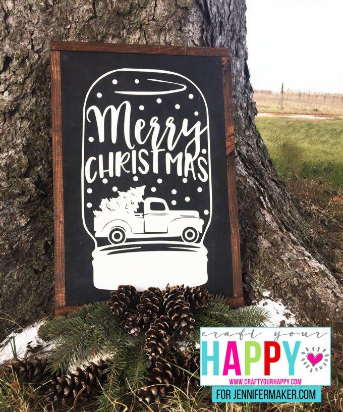 DIY Christmas Mason Jar How to Paint Custom Chalkboard